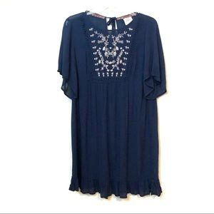NEW Knox Rose embroidered front peasant dress